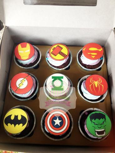 SuperheroCupcakesforAikia-ChocolatyCakes