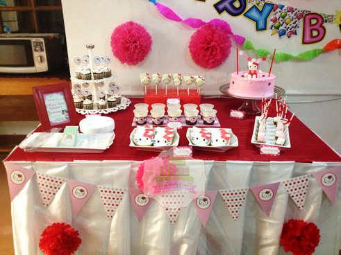 Hello Kitty Dessert Table For Alula S 1st Birthday