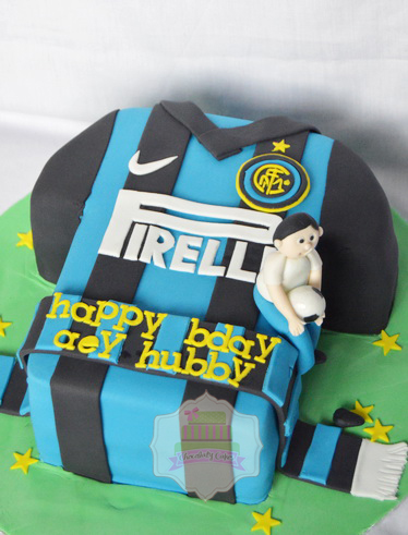 Inter Milan Jersey Cake for Aey Hubby