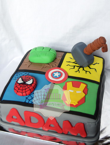 AvengersCakeCookiesforAdam-ChocolatyCakes