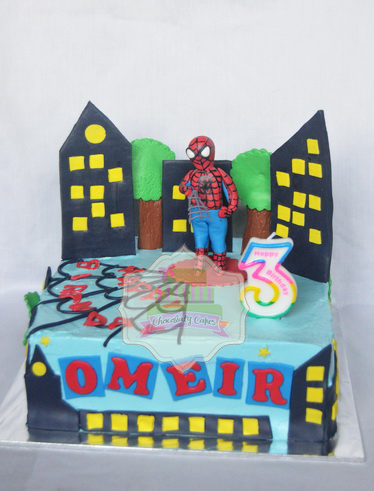 SpidermanCakeforOmeir-ChocolatyCakes