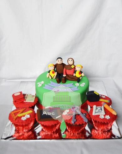 AnniversaryCakeCupcakesSet-ChocolatyCakes
