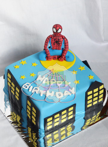 SpidermanCake-ChocolatyCakes