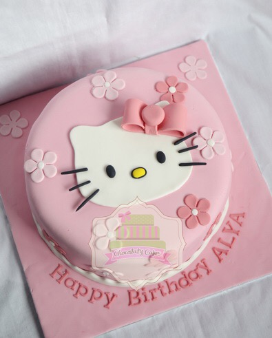Hello Kitty Cake Goodie Bags For Alya