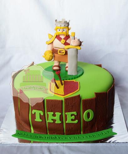 Pesanan Mbak Elfi untuk suami, Barbarian King Cake ukuran 18 cm rasa ...