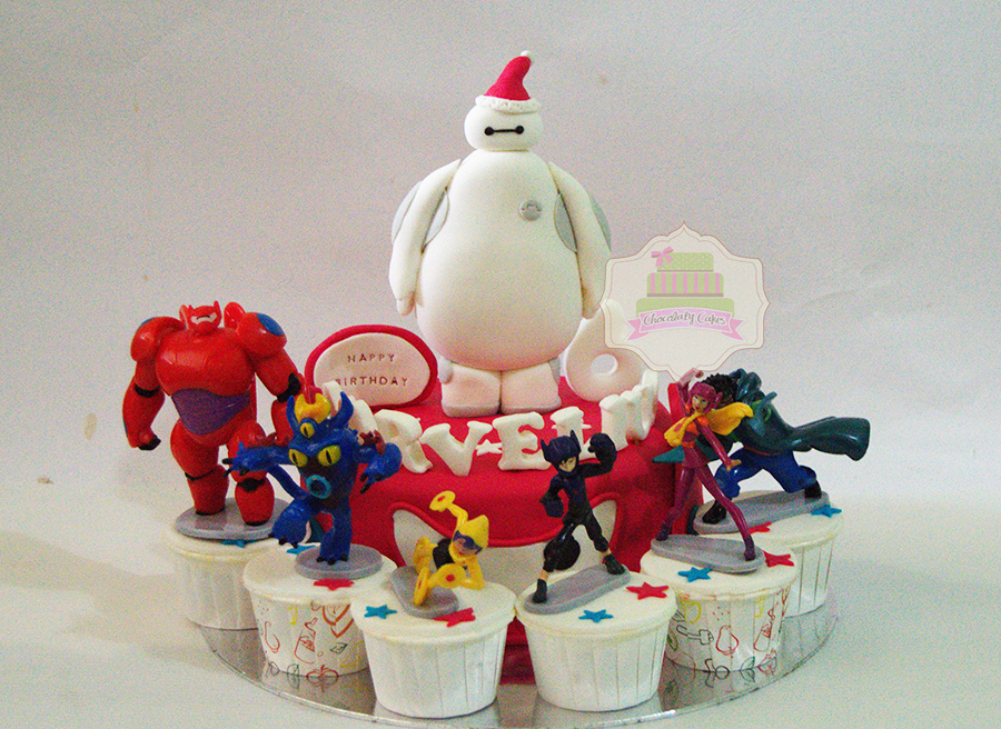 Big Hero 6 Cake & Cupcakes Set for Marvelius